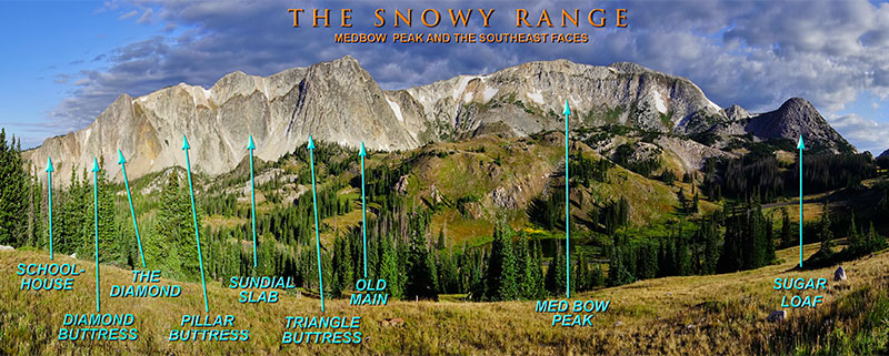 Snowy Range Wyoming Map.The Snowy Range Medicine Bow Routt Nat L Forest Vedauwoo